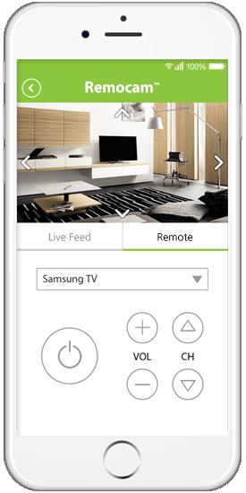 Die Remocam App zur Steuerung der Smart Home Cam und des IoT