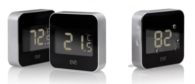 Das Elgato Eve Degree Thermostat gehört zu den wenigen schwarzen Modellen