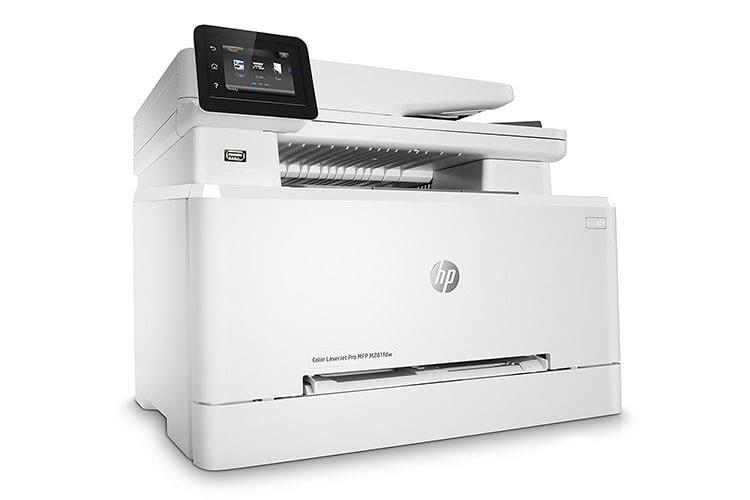 Der HP Color LaserJet Pro-MFP M281fdw druckt, scannt, kopiert und faxt