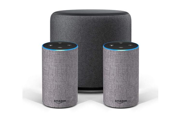 Ein Amazon Echo Sub und zwei Amazon Echo 2 ergeben ein 2.1-Stereosystem
