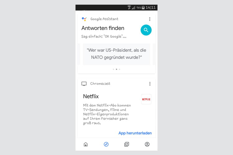 Die Google Home App hält eine große Auswahl an Anwendungsbeispielen bereit