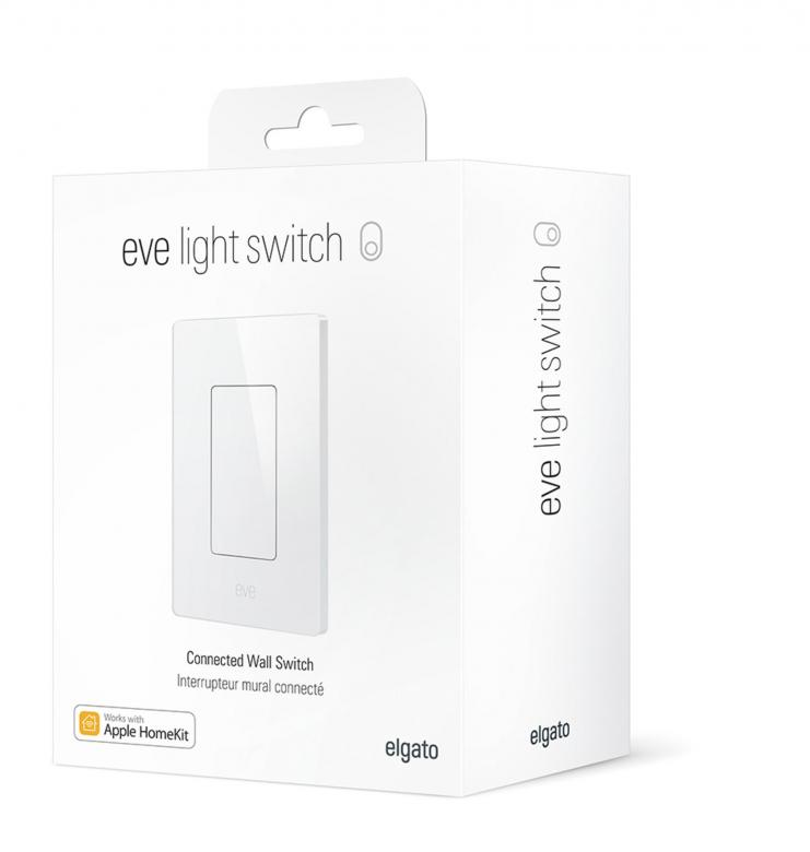 Verpackung des Eve Light Switch