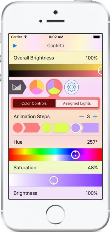 Die Lightbow App macht Lichtanimation im Eigenbau möglich