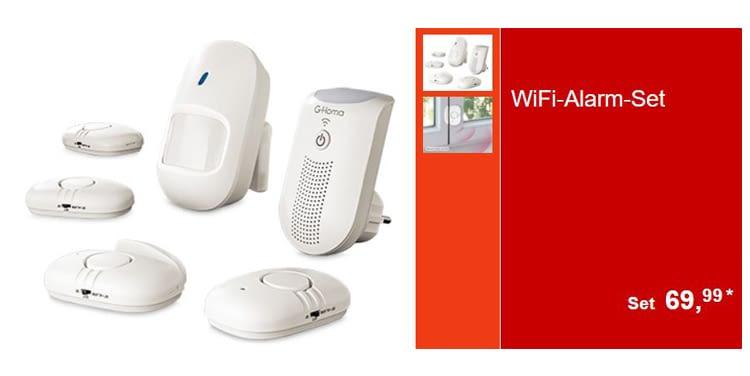 Das WiFi-Alarm-Set erkennt Bewegungen und warnt per App