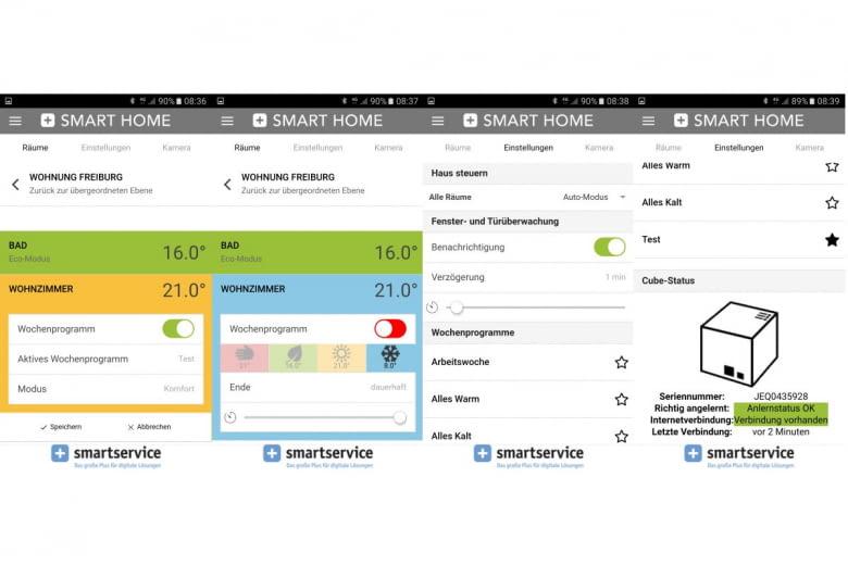 Die App zum SMART HOME von SmartService