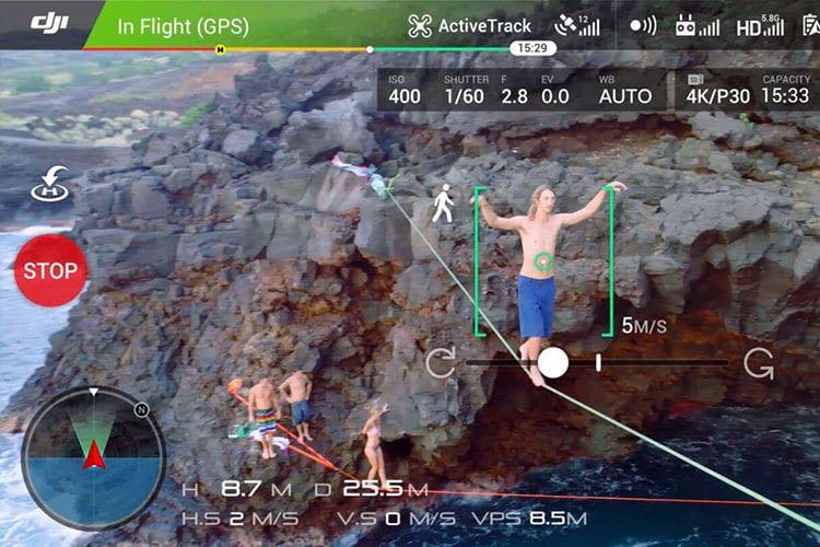 Screenshot des Fernbedienung-Displays - Drohnenpiloten behalten stets den Überblick