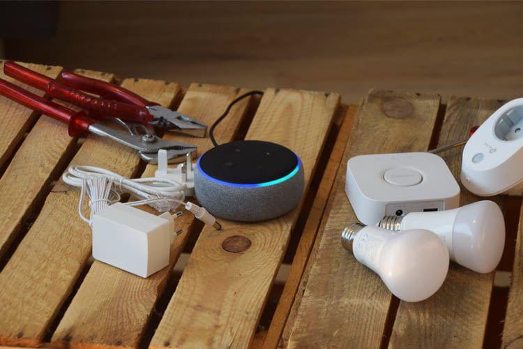 Mit allen Alexa Lautsprechern (hier: Echo Dot 3) sind hunderte Geräte kompatibel