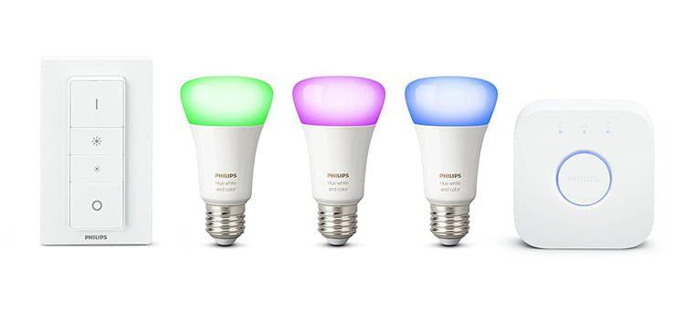 Dieses Set enthält drei intelligente Lampen der 4. Philips Hue Generation