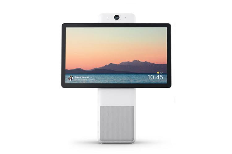 Facebook Portal Plus im Landscape Modus - das größte Smart Display der Facebook Portal Familie