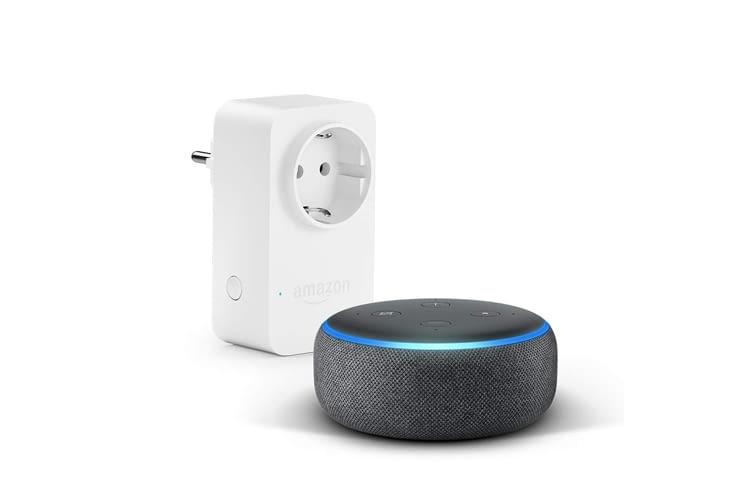 Echo Dot 3 kann via Bluetooth oder ein 3,5-mm-Audiokabel mit weiteren Lautsprechern verbunden werden