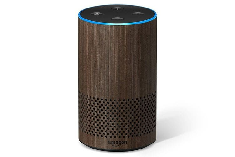 Der blaue Lichtring zeigt an, dass Alexa eine Verbindung zur Amazon Cloud hat
