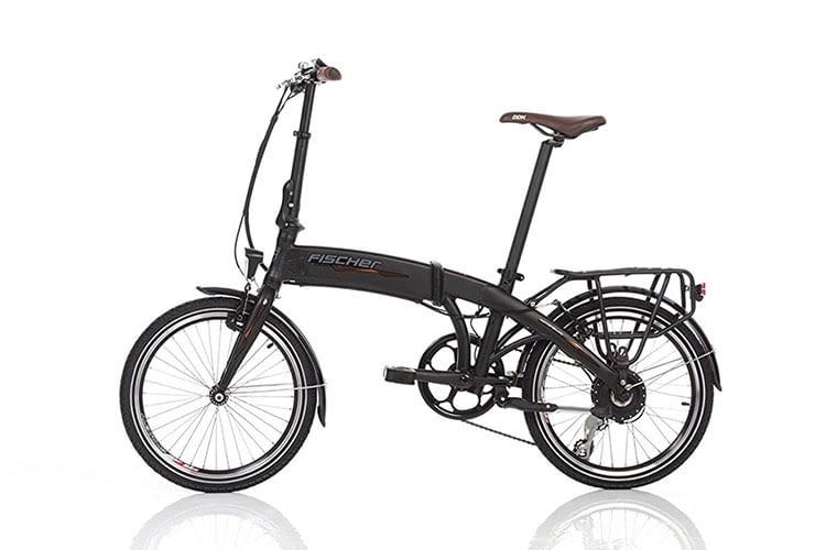 Das FISCHER E-Bike Faltrad hat den Akku perfekt in den Rahmen integriert