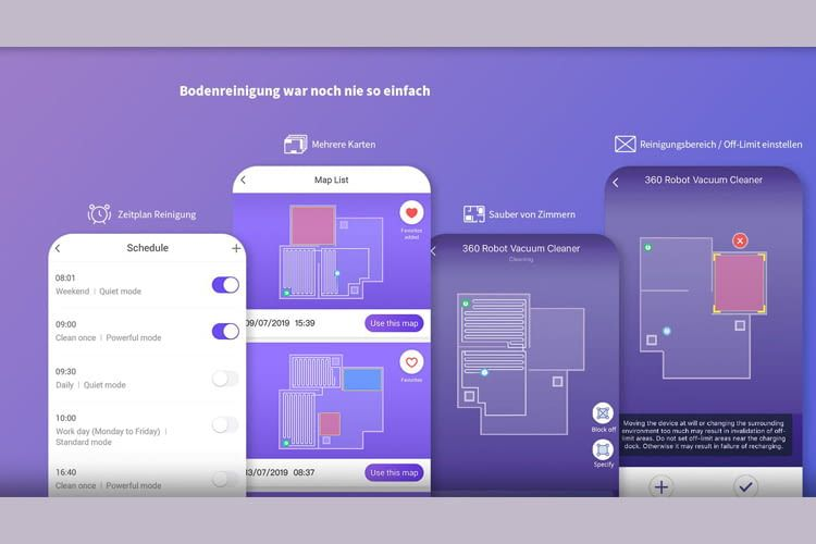 Die App zeigt alle wichtigen Einstellungen in übersichtlichen Grafiken an