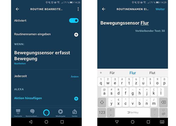 Sind Routinen in der Alexa-App benannt, behalten Nutzer einen guten Überblick