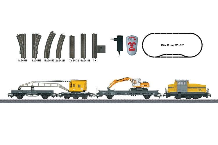 Alles, was Eisenbahner-Herzen schneller schlagen lässt – ein komplettes Streckennetz mit Zug