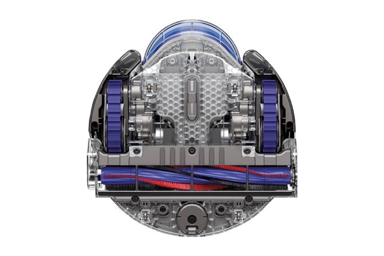 Der Blick auf das Innenleben des Dyson 360 Eye enthüllt hochwertige Materialien