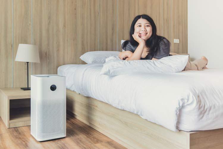 Die meisten Luftreiniger haben einen speziellen Schlafmodus für ungestörte Nachtruhe