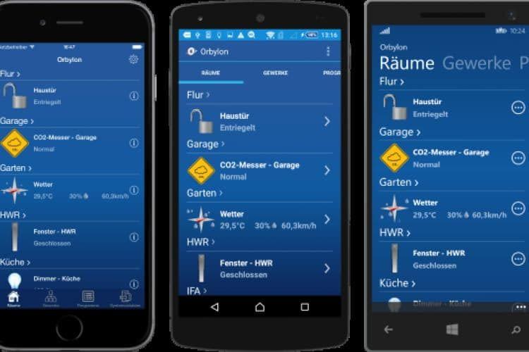 Orbylon für iPhone, iPad, Android und Windows Phone