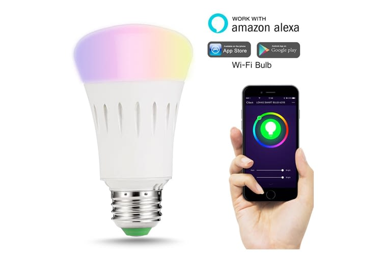Die LOHAS Smart LEDs für E27 Fassungen sind mit Alexa steuerbar