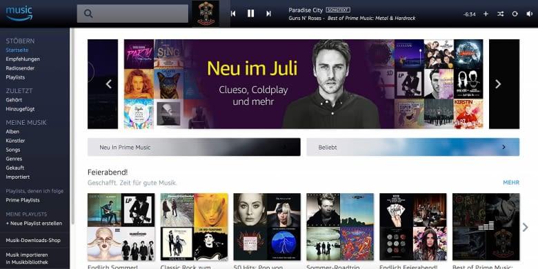 Prime Music ist der kleine Bruder von Amazon Music Unlimited