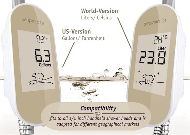 Abbildung der intelligenten Verbrauchsanzeige amphiro b1 connect