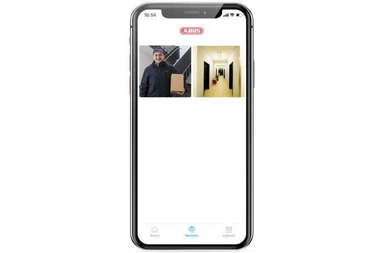 Mit einer Überwachungskamera ist schnell per App kontrollierbar, wer sich gerade vor der Tür befindet