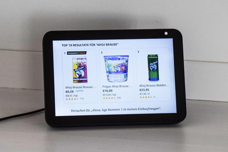 Alexa empfiehlt bei allgemeinen Suchanfragen immer besonders beliebte Produkte