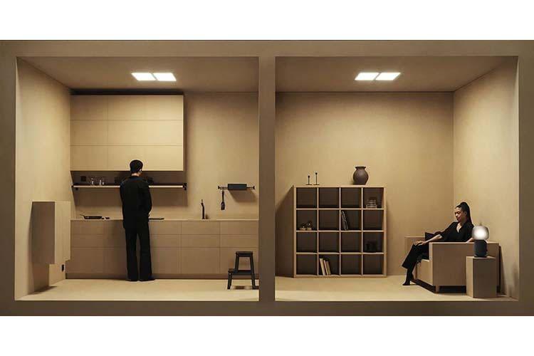 Die geradlienige Schlichtheit des IKEA SYMFONISK Designs schlägt sich auch in der Markenbildsprache nieder