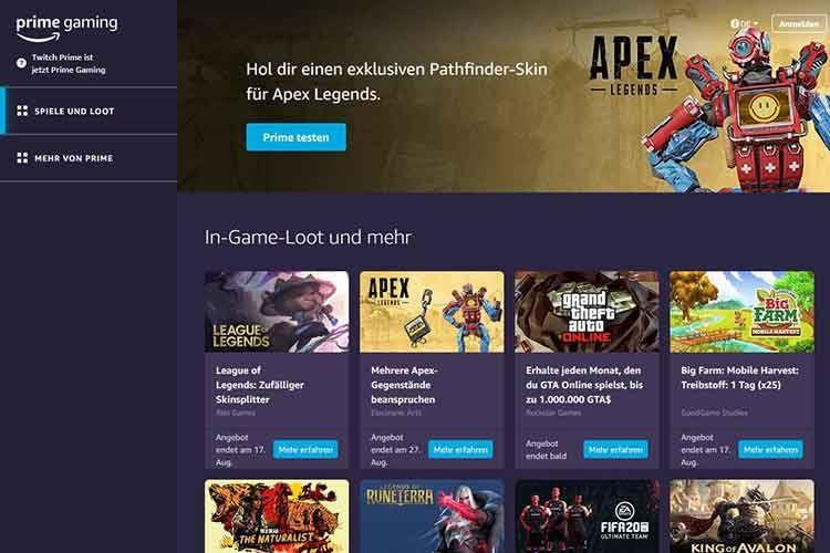In Amazon Prime Gaming enthalten: Jede Menge In-Game-Loots und sogar komplette PC-Spiele