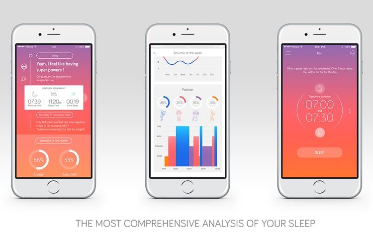 Die Sleep360-App zeigt anschaulich, wie es um die Energie steht
