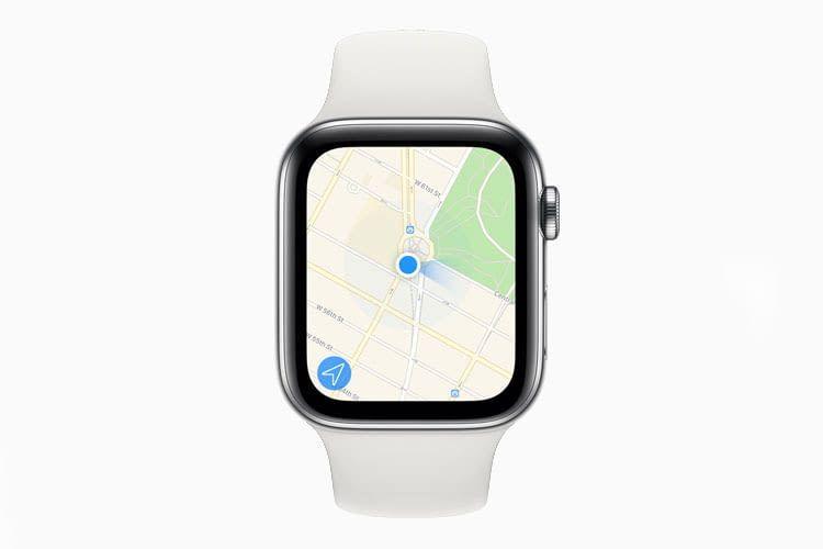Dank integriertem Kompass, kann Apple Watch Series 5 nicht nur Positionen sondern auch Richtungen anzeigen