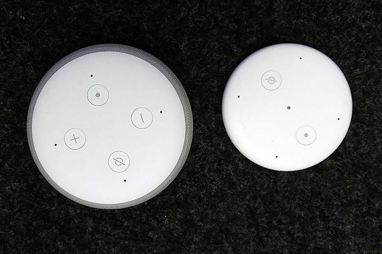 Im Vergleich zum Amazon Echo Dot besitzt Echo Input keinen Leuchtring und keinen Lautsprecher