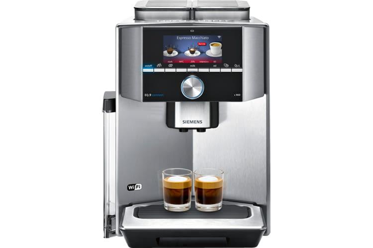 Die intelligente Siemens Kaffeemaschine EQ.9 lässt sich mit der Home Connect-App steuern