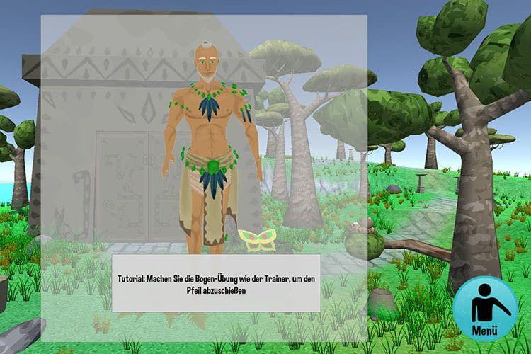 Ein virtueller Trainer leitet durch die Rückenübungen bei AmbiGate eReha