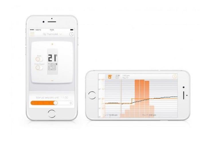 iPhone-App (iOS) für smarte Heizkörperthermostate von Netatmo