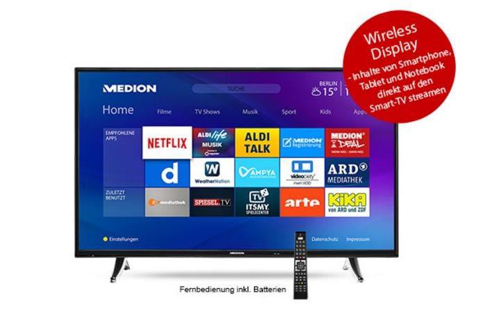 Von stattlicher Größe und mit WLAN-Anbindung - Der neue Smart TV bei Aldi Nord
