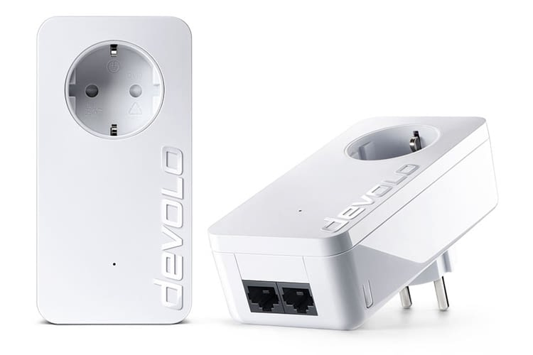 Die devolo-Powerline DLAN 1000 duo-Steckdose