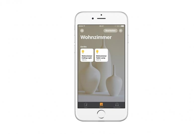 Die Sylvania App zeigt alle Einstellungsmöglichkeiten in der Übersicht