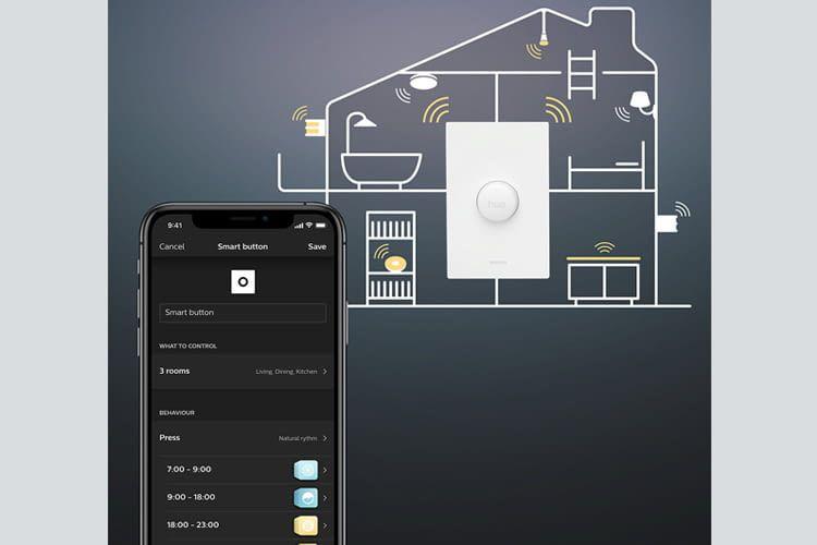 Der Philips Hue Smart Button ist per Philips Hue App individuell programmierbar