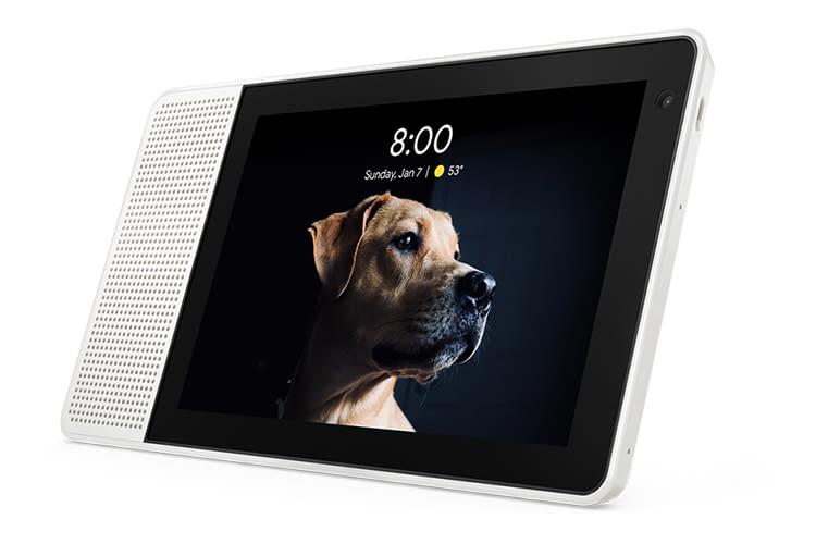 Der Lenovo Smart Display mit 8-Zoll-Bildschirm hat einen kleineren Lautsprecher als das 10-Zoll-Modell