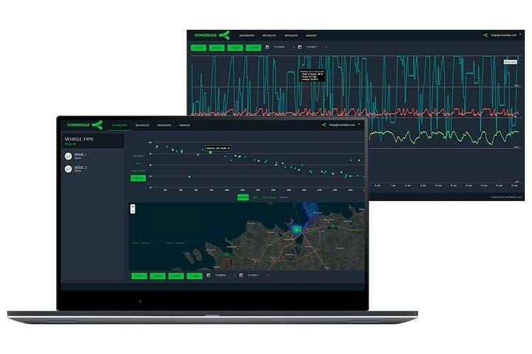 Über die Cloud-Plattform von COMODULE können E-Fahrzeughersteller Datenauswertungen vornhemen