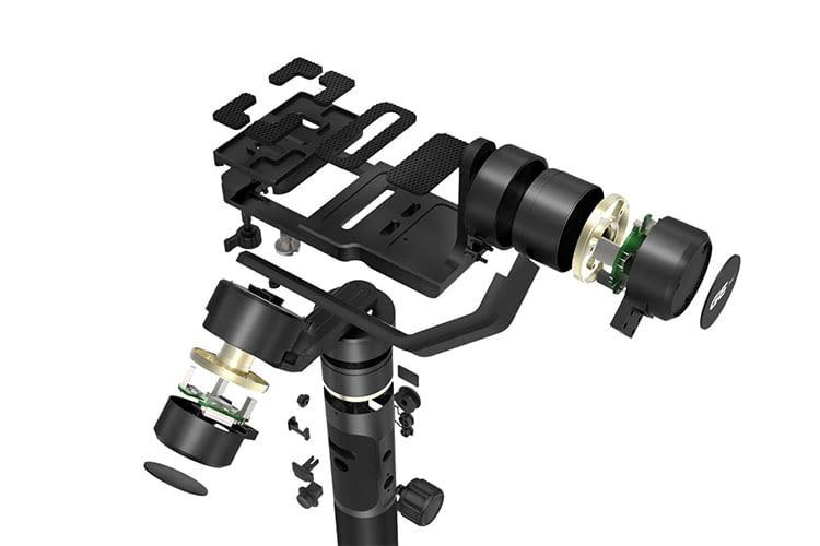 Das Universal-Gimbal FeiyuTech G6 Plus bietet viele Einstellungsmöglichkeiten