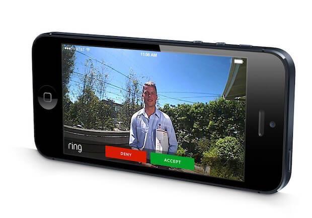 Abbildung der ring Doorbell App auf einem iPhone - iOS