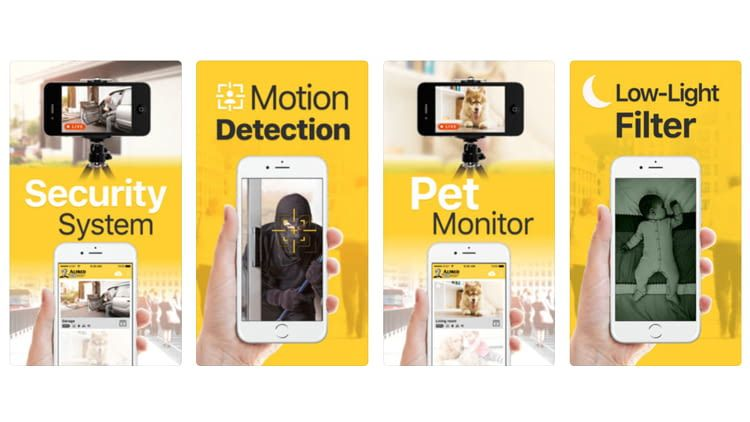Laut Hersteller ist die Alfred App die No.1 Home Security Camera App