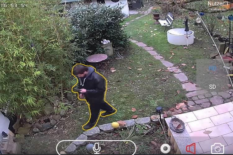 Die Überwachungskamera HiKam A7 kann Personen und Gegenstände unterscheiden