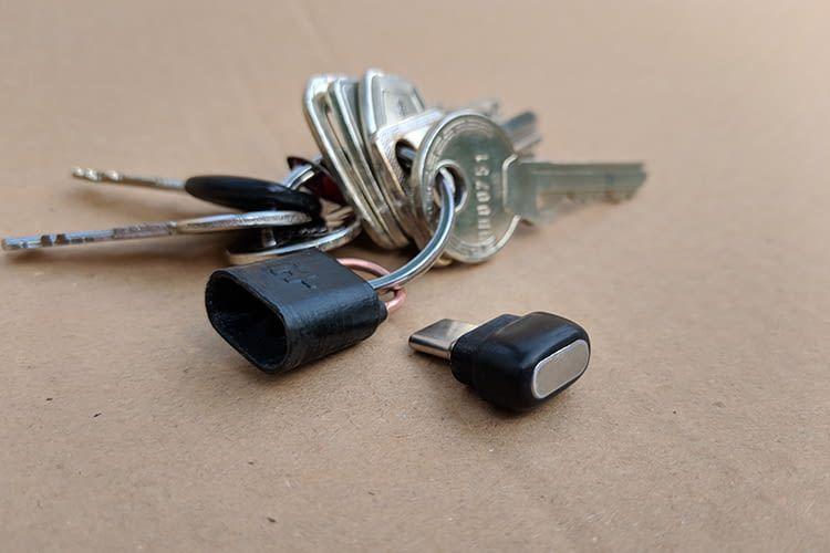 Das Add-on lässt sich ganz einfach am Schlüsselbund transportieren