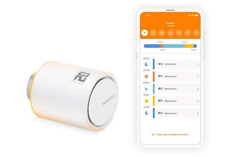 Das Netatmo Smartes Heizkörperthermostat ist eine kleine Design-Ikone