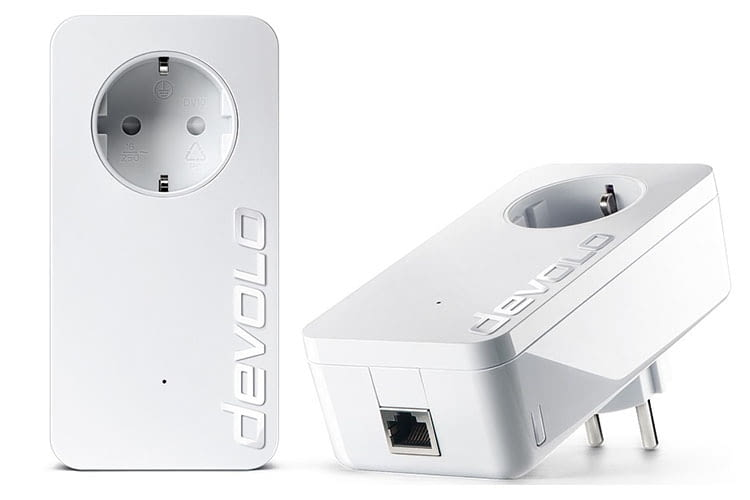 Das devolo dLAN 1200+ Powerline Starter Kit enthält zwei Powerline-Adapter