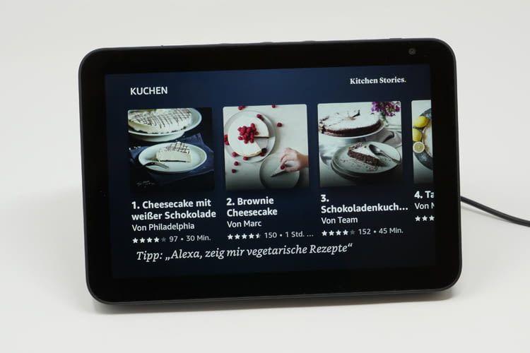 Echo Show 8 zeigt Rezepte in Form von bebilderten Schritt-für-Schritt Anleitungen an