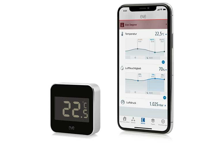 Die Eve Degree Smarte Wetterstation ist HomeKit-kompatibel und besteht nur aus einem Außenmodul